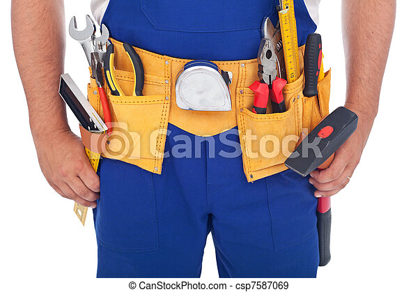 Handy man with lots of tools - csp7587069