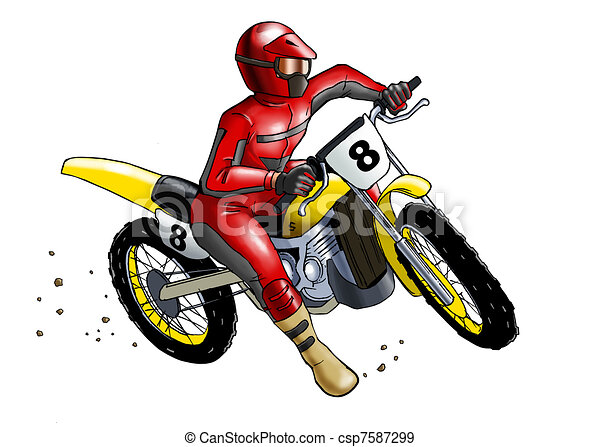 Stock Illustratie Van Motocross Airbrushed Illustratie