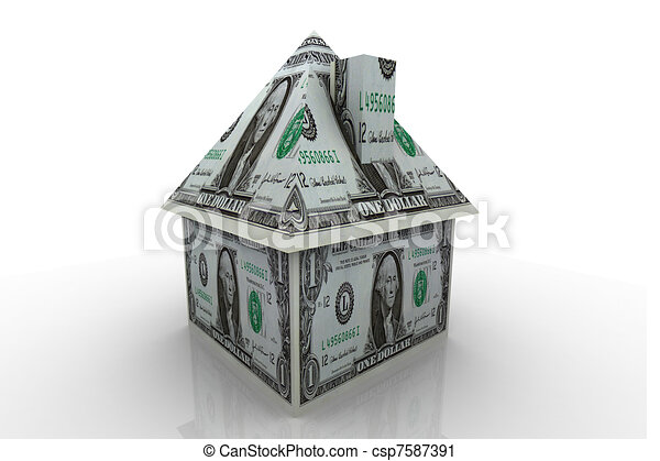 House finance concept	 - csp7587391