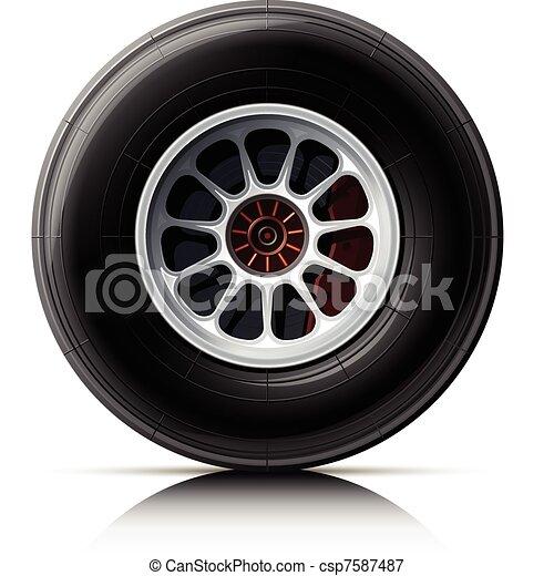 sports car wheel - csp7587487