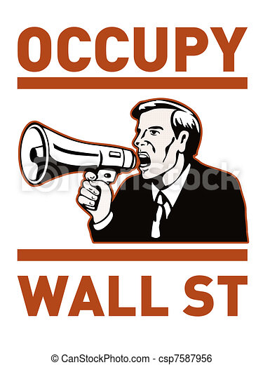 Occupy wall street - csp7587956