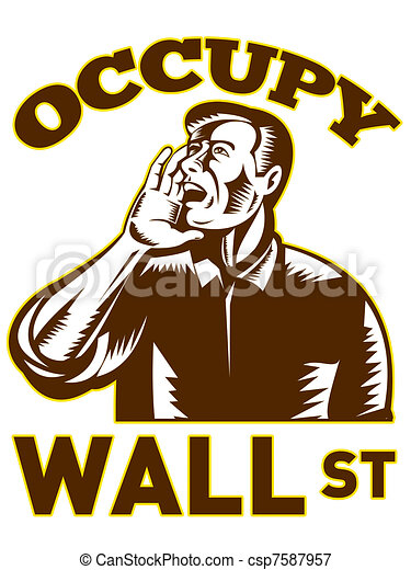 Occupy wall street  - csp7587957