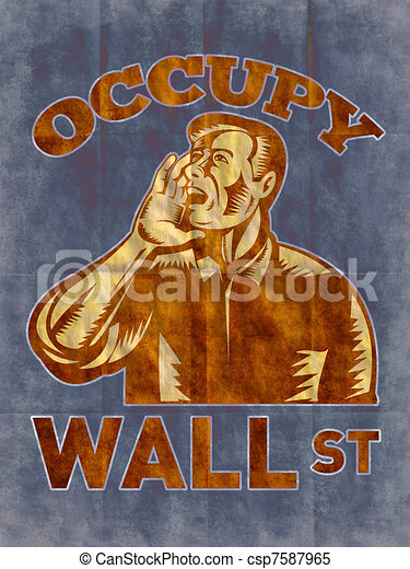 Occupy Wall Street - csp7587965