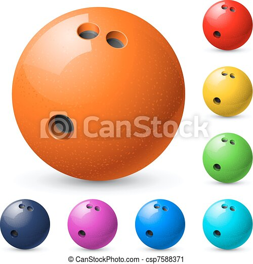Set of bowling balls - csp7588371