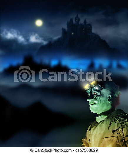 Halloween figure - csp7588629