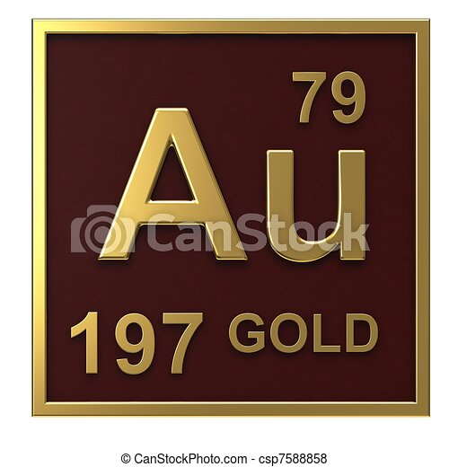 Stock Illustration of Element of the periodic table gold isolated on ...
