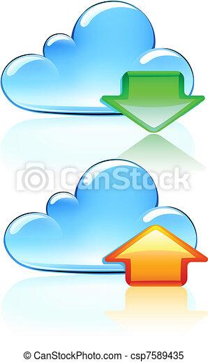 Cloud Hosting Icons - csp7589435