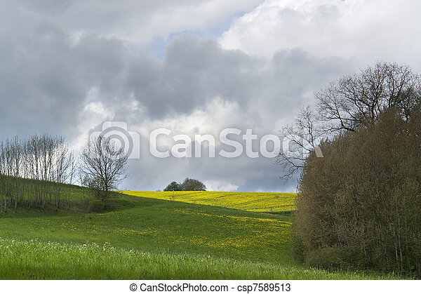 cloudy spring scenery - csp7589513