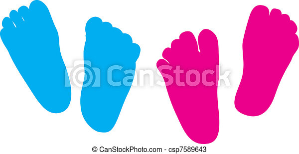child feet his and hers - csp7589643
