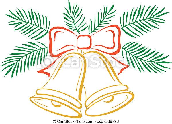 vektor von glocken weihnachten piktogramm weihnachten. Black Bedroom Furniture Sets. Home Design Ideas