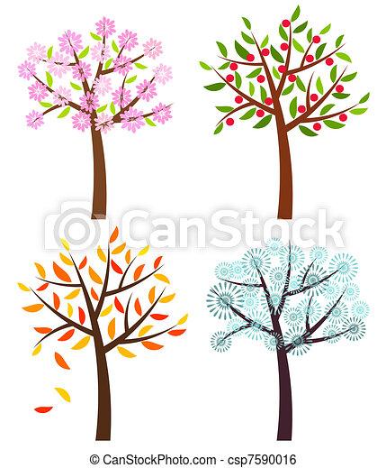 Four seasons - csp7590016