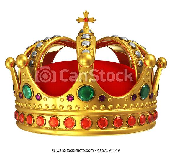 Golden royal crown - csp7591149