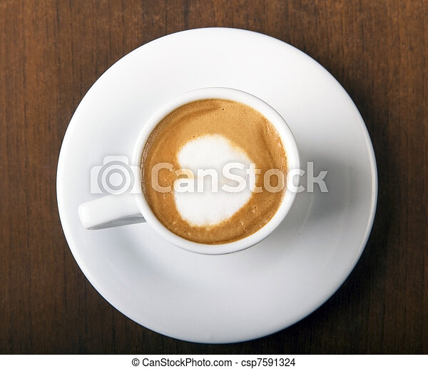 Coffee Macchiato directly above - csp7591324