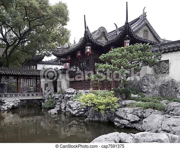 Yuyuan Garden in Shanghai - csp7591375