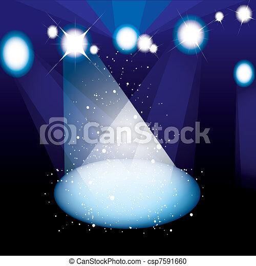 Concert spotlight stage - csp7591660