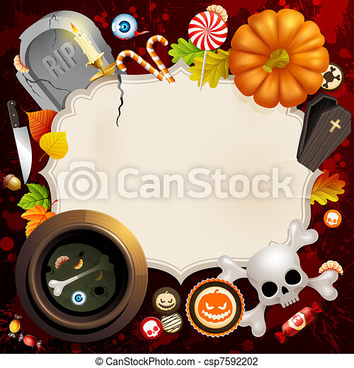 Halloween illustration - csp7592202