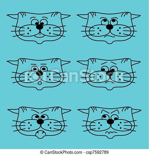 facial expressions - csp7592789
