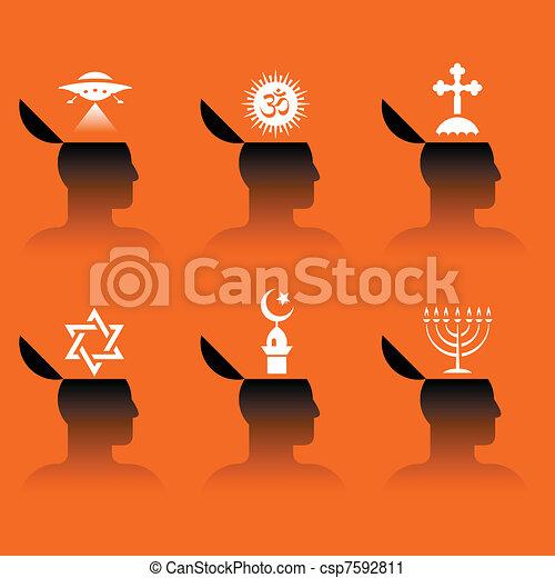 icons of human head - csp7592811