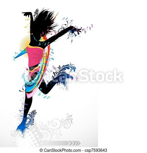 Grungy Dancer - csp7593643