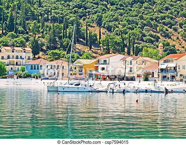 coastline of Kefalonia, Greece - csp7594015