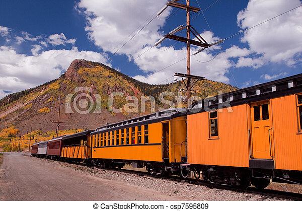 Narrow Gauge Train - csp7595809