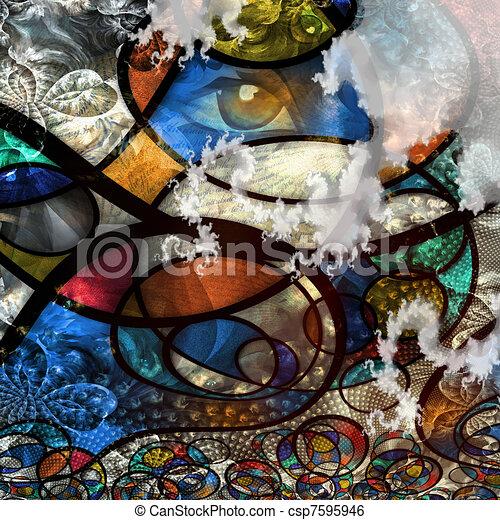 Modern art - csp7595946
