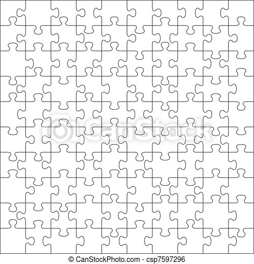 Jigsaw puzzle with 100 pieces - csp7597296