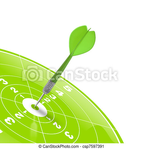 teamwork and target reaching the same goal - csp7597391