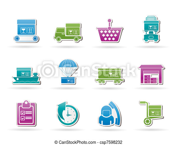 Logistic, cargo and shipping icons  - csp7598232