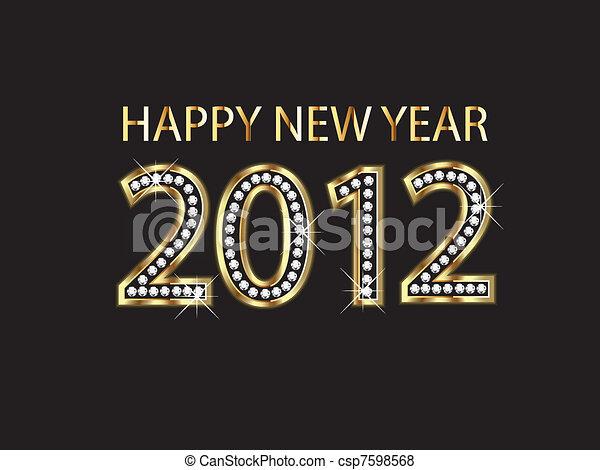 Happy new year 2012 - csp7598568