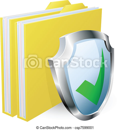 Protected folder document concept - csp7599001