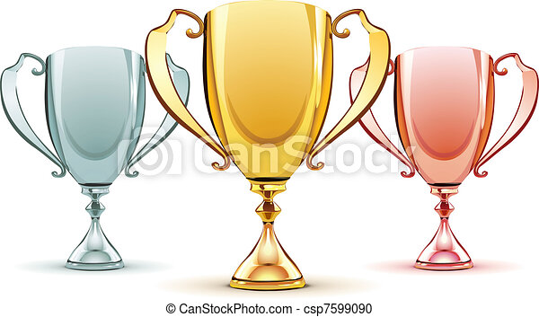 three trophies - csp7599090