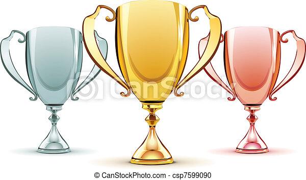 three trophies - csp7599090