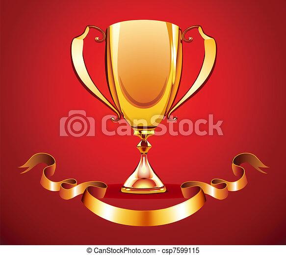 golden trophy - csp7599115