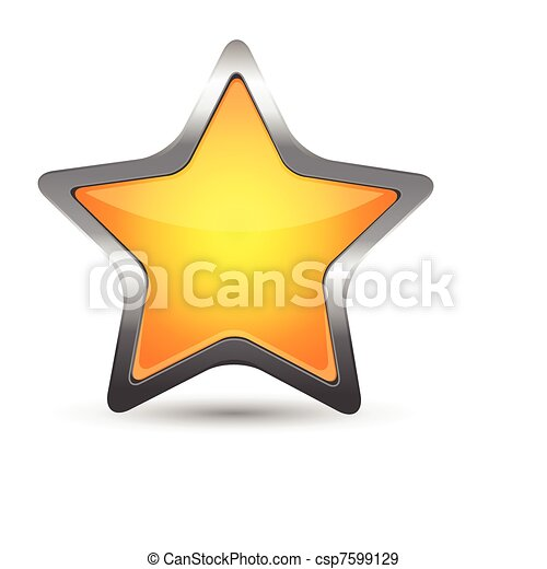 yellow star icon - csp7599129