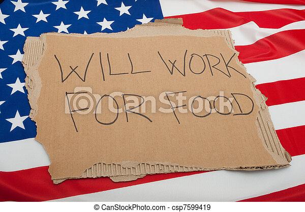 Unemployment in USA - csp7599419