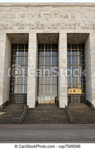 law courts entrance, milan - csp7599596