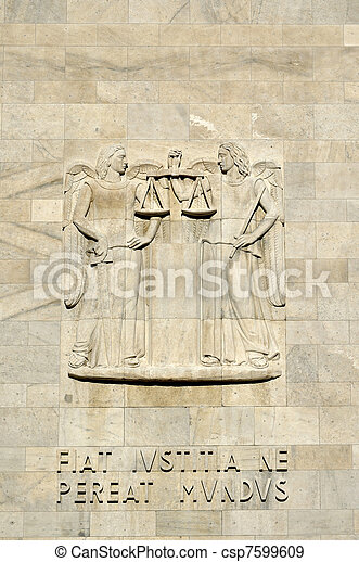 high-relief at law courts #2, milan - csp7599609