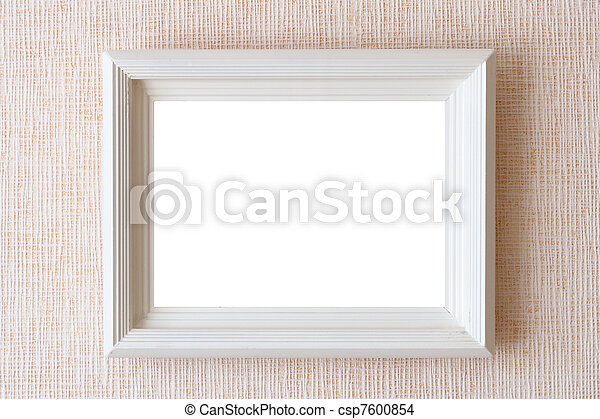 Old empty frame for picture on wall
