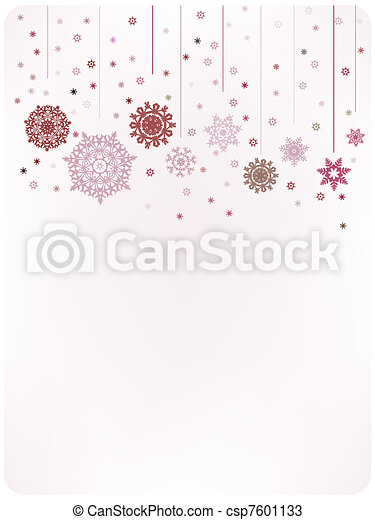 Christmas warm card template. EPS 8 - csp7601133