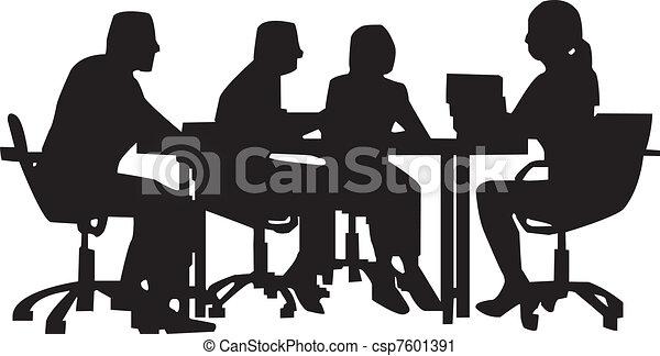 Office meeting - csp7601391