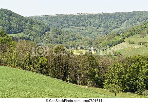 idyllic spring scenery in Hohenlohe - csp7601614