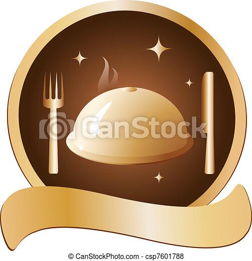 Stock de ilustraciones de dorado plato tenedor cuchillo for Plato tenedor y cuchillo