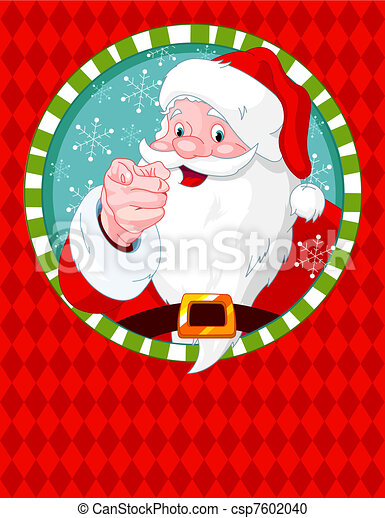 Santa Claus pointing - csp7602040