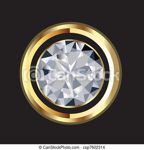 Diamond and gold shine vector  - csp7602314
