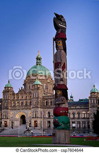 Parliament building Victoria, British Columbia, Canada - csp7604644