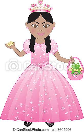 Pink Princess Costume - csp7604996