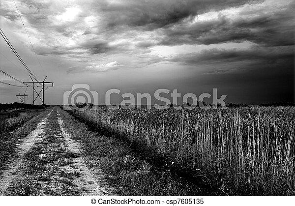 Powerline Road - csp7605135