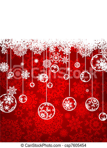 Elegant christmas background. EPS 8 - csp7605454