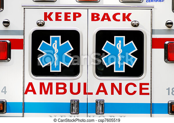 An ambulance concepts of emergency  - csp7605519